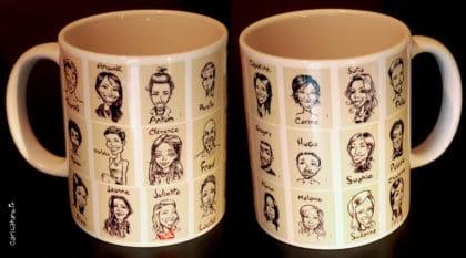 caricatures sur mug