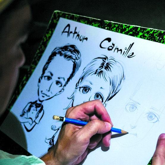 Trio de caricatures d'enfants