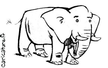 Colorier éléphant.