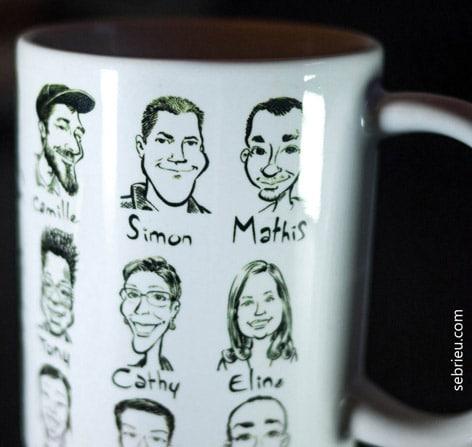 mug trombinoscope, cadeau d'entreprise