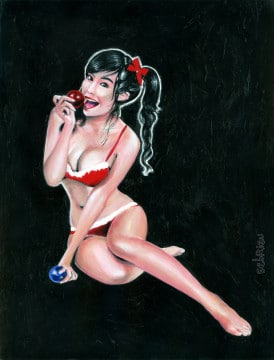 elly van tran chritmas pin-up