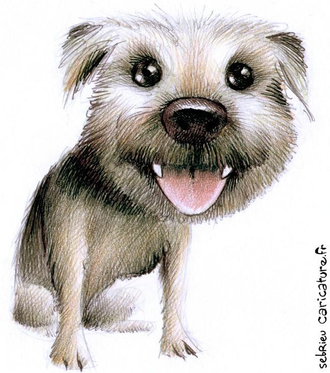 caricature d'animaux de compagnie: un mini chien