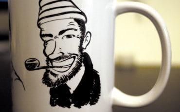 mug personnalisé, caricature