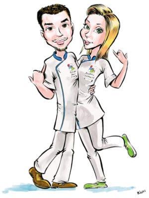 Couple en caricature