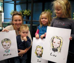 Une famille caricaturée