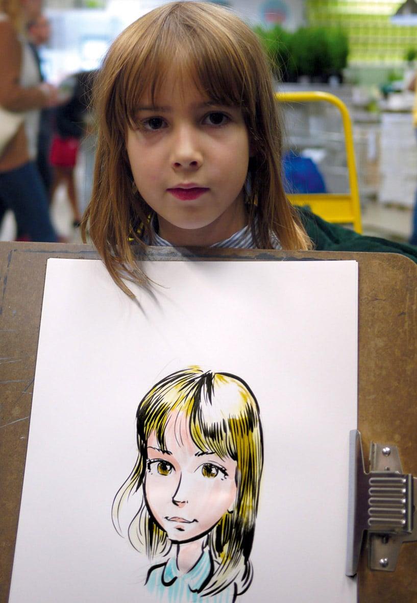 Caricature d'une ado