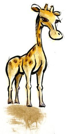 caricature d'une girafe