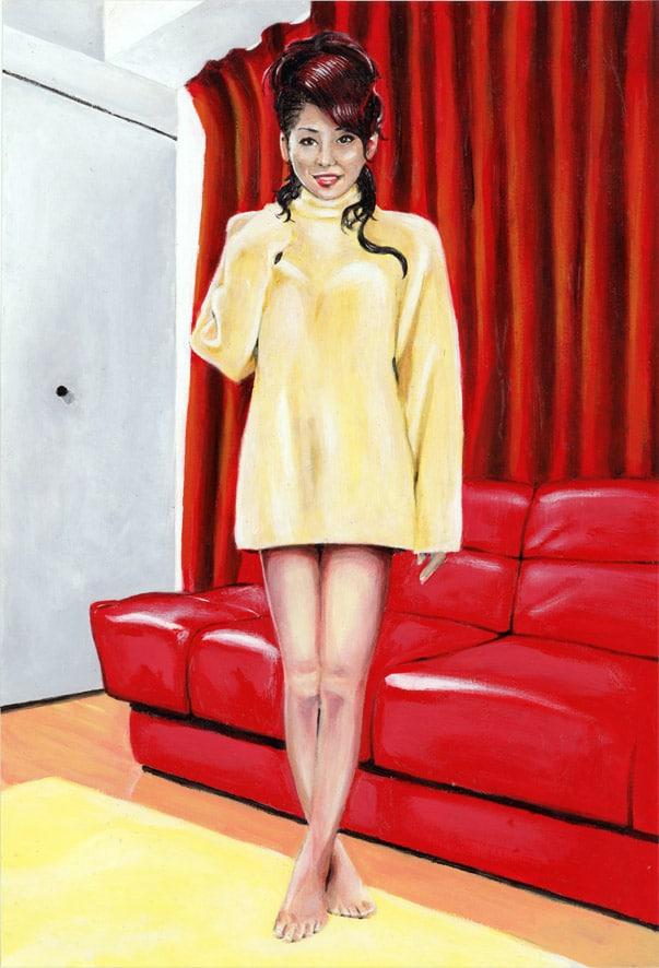 Peinture acrylique d'Anri Sugihara