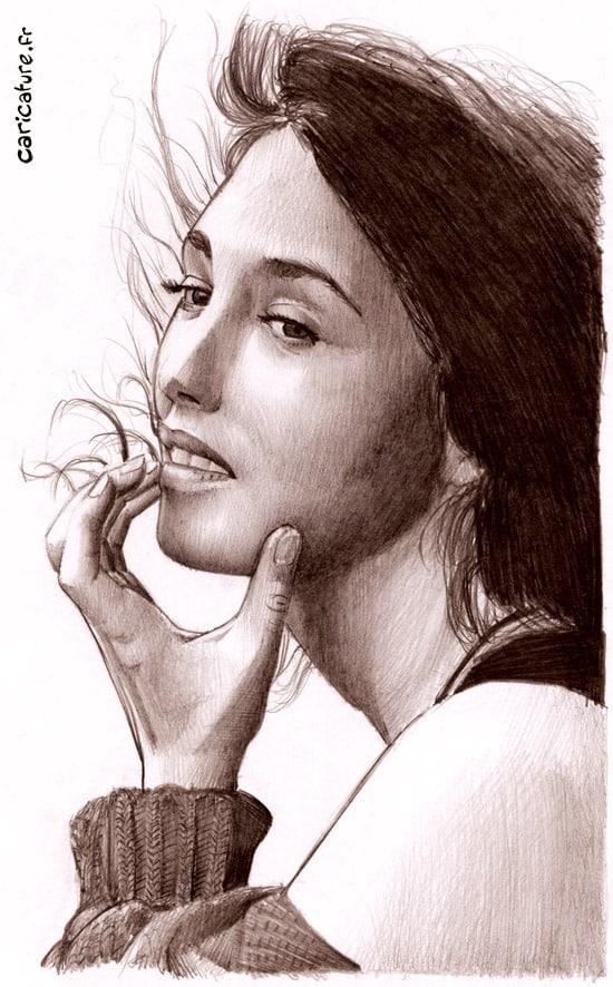 Le visage d'Isabelle Adjani