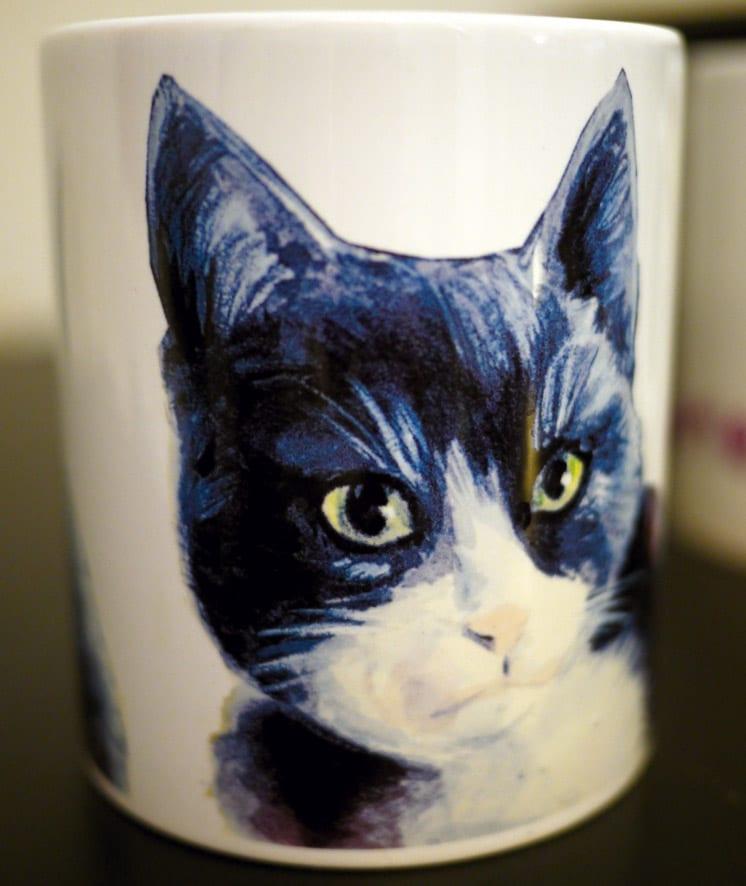 mug personnalisé avec le portrait d'un chat
