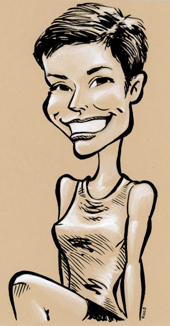 Caricature d'une Bordelaise