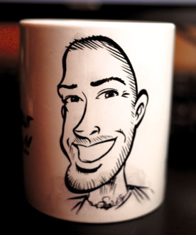 Exemple de portrait sur un mug