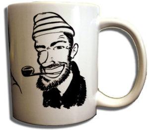 Cadeau personnalisé: caricature sur un mug